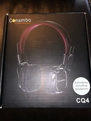Active Noise Cancelling Headphones Mic Airplane Adapter Conambo Foldable K31