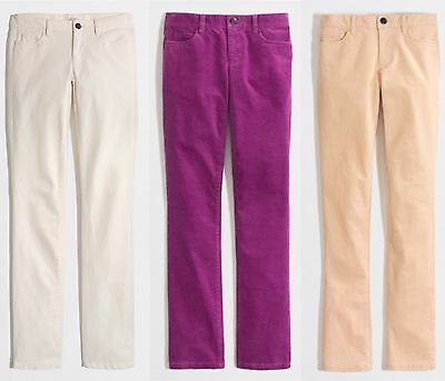 J.Crew Factory Corduroy Pants Womens Matchstick Straight & Narrow Fit Cord Jeans