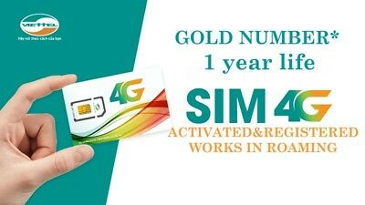 NEW! Activated Vietnam VIETTEL SIM card Vietnamese