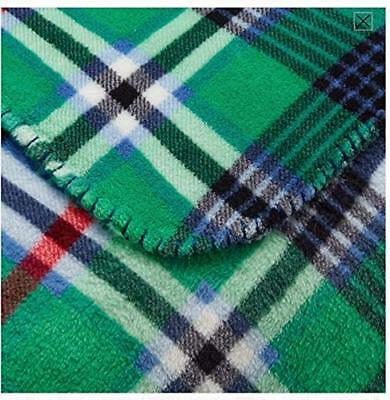 Holiday Green Plaid Plush Fleece Throw Blanket 50 in. x 60 in. Mainstays Gift