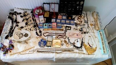 Job Lot Of Costume Jewellery ,including Silver Items , Some Vintage ,