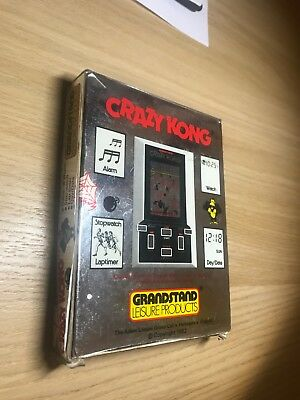 Grandstand CRAZY KONG Hand Held LCD Game 1981