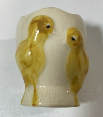 Vintage Fanny Farmer Ceramic Egg Cup with 2 Chicks