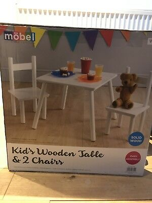 Mobel Kids Wooden Table And 2 Chairs
