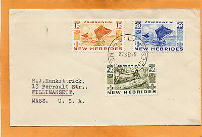 Vila New Hebrides 1955 Cover Mailed USA