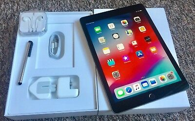 PRISTINE*Apple iPad Air 2 128GB,Wi-Fi+ Cellular(Unlocked),9.7in-Space Grey+EXTRA