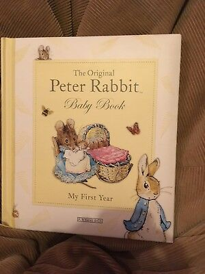 """THE ORIGINAL PETER RABBIT BABY BOOK """"My First Year"""". New"""