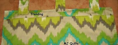 Handcrafted Multi-Colored Walker Accessory Tote Bag-Made in USA by MJ Quilts