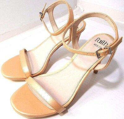 3d5f64442fc ASOS FAITH WIDE Fit Dolly Heeled Sandals Light Pink US Size 8 - 8.5M NEW  ONLY 1!