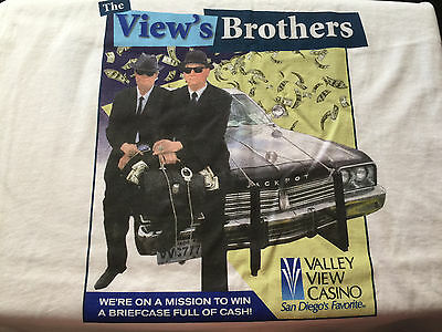 The View's Brothers Valley View Casino CA Tee T-Shirt XL players club souvenir