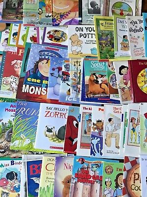 RANDOM (LOT of 20) LEVEL 1 to 3 early readers learning scholastic children books
