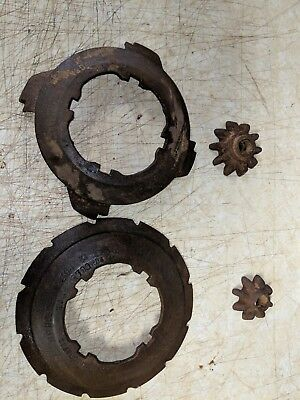 * Vintage Pair Cast Iron Farm Seeder - Perfect for Re-Purposing -  COLE PARTS