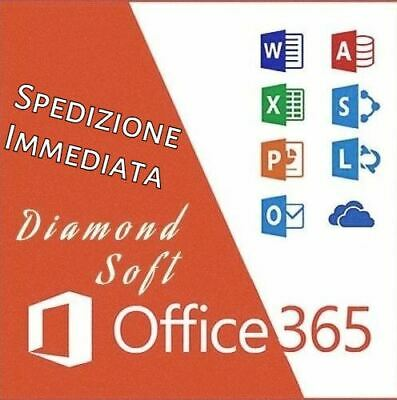 MICROSOFT OFFICE 365/2016 PRO PLUS Licenza a vita 5 dispositivi 5TB Onedrive ITA