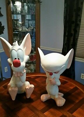 Vintage Pinky And The Brain Large Figurines Made In 1997