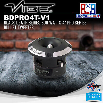 "Vibe Bdpro4t-v1 Black Death Series 300 Watt 4"" Pro Series Tweeter"