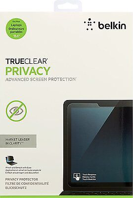New Belkin TrueClear Privacy  Protector for 11.6 Laptop Screens OEM NEW