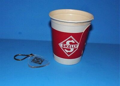 Vintage Skelly Oil Gas Station Promo Coffee Cup Key Fob Advertising Lot Oklahoma