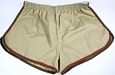 Trax 70s 80s Gym Track Shorts Piped Side Mens XL 30-32 Poly Blend Shorty Sexy