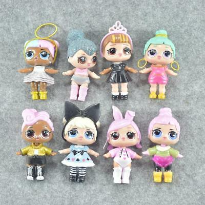 8 Piece Mini LOL Dress Toy Dolls Girls Figure Collectible Surprise Ornament Gift