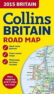 2015 Collins Map of Britain (Road Map) by Collins Maps Book The Cheap Fast Free