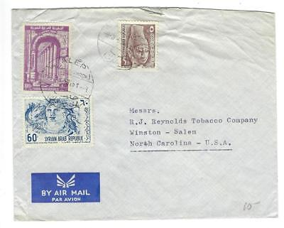 1965(?) Syria To USA, RJ Reynolds Tobacco Airmail Cover (TT41)