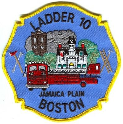 Boston Fire Department Ladder 10 Patch Massachusetts MA v2