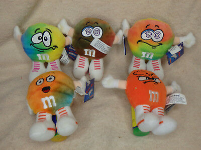 """M&M's """"The Swarmees"""" Mutant Mini Plush Character - Lot of 5"""