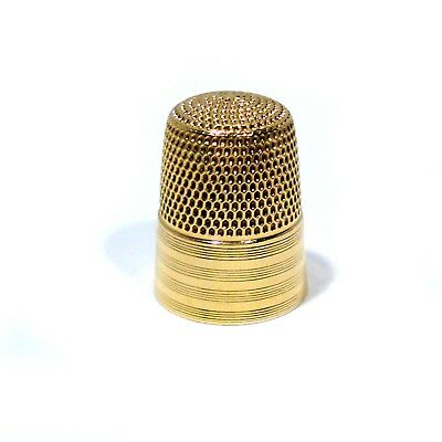 Simons Brothers Co. Solid 10K Yellow Gold Size 8 Thimble ~ Mono Nan