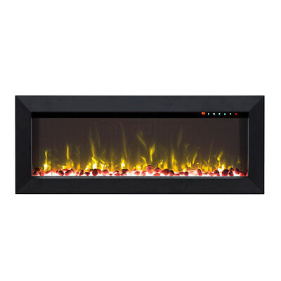 """New 1500W 45"""" Recessed Wall Mounted Electric Fireplace Flame Effect Fire Heater"""