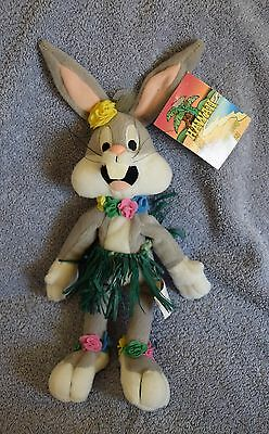 "Warner Brothers BUGS BUNNY HAWAII GRASS SKIRT 9"" Bean Bag Plush - Looney Tunes"