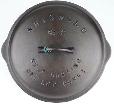 Vintage Griswold Low Dome No 8 (468) Cast Iron Skillet Lid Restored Condition