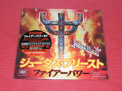 2018 Judas Priest Firepower Ep Japan 7 Inch Ep Red Color Vinyl