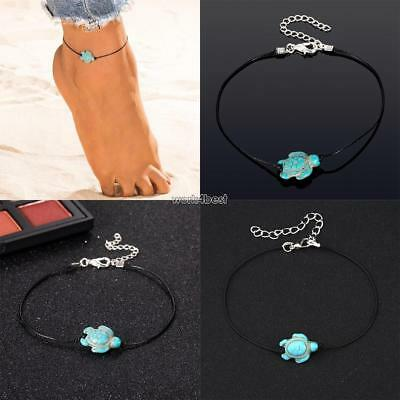 Women Casual Cute Turtle Shape Lobster Claw Clasp Closure Anklet WST