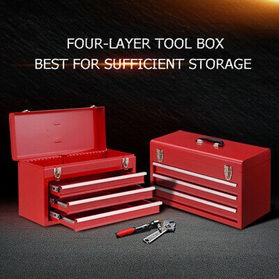 Portable 5 Drawers Tool Box Chest Organiser Mechanic Garage Storage Toolbox Set