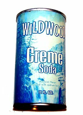 Wildwood Creme Soda Pull Tab Soda Pop Top Can A1+ Flat Beer Sign Chicago Zip Ofr