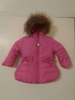 669edcd2ea17 Rothschild Pink Hooded Winter Jacket Coat Girls Size 12M New With Tags