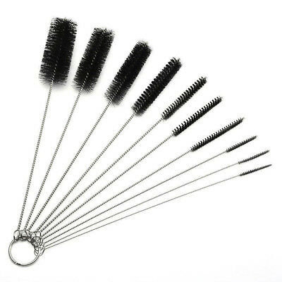10x Bottle Brush Straw Cleaner Glass Cleaning Tube Pipe Washing Long Handle Tool