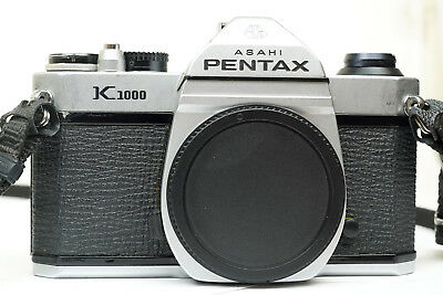 Pentax K1000 SLR Film Camera Body Excellent Condition with Strap Battery