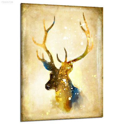 E70B Creative Colorful Cartoon Animals Retro Elk Decorated Frameless Oil Paintin