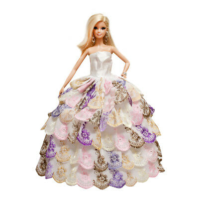 Orange Ball Gown Strapless Layers of Organza Dress for 11.5 inches Doll