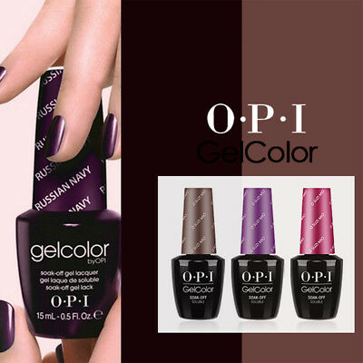 Weekly Gel Lacquer GelColor Collection By OPI Color Base Top Coat Varnish 15ML