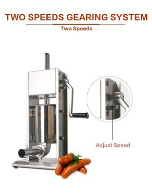 Stainless Steel Sausage Maker Manual Machine Meat Processor 3L