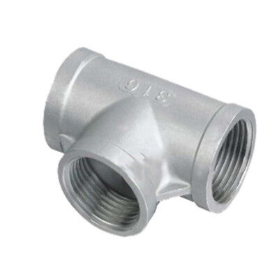 Three-way Ball valve 3 Way Stainless Steel 304 Pipe Fitting Silver Practical