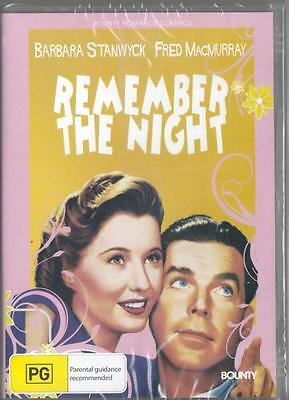 Remember The Night - Barbara Stanwick -  New & Sealed  R4 Dvd Free Local Post