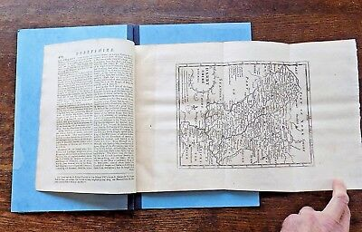 c1720 Cox Derbyshire Derby Morden Map Text Magna B Old Antique Natural History