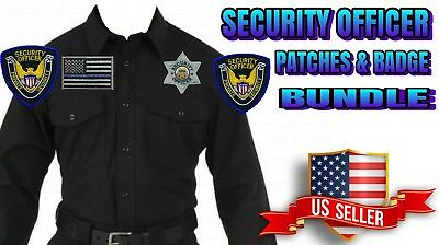 Private Security Officer Shoulder Hat Chest Patches Flag Patch Bundle