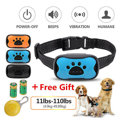3in1 Anti Bark Dog Collar Anti-Bark Training With Sound&Vibration Safe Harmless