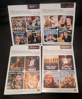 4 TCM Greatest Classic Films Collections: Shakespeare_Musicals_Romantic_Western