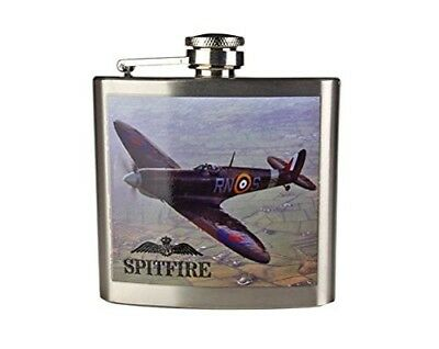 Royal Air Force Official Licensed Product SPITFIRE Stainless Steel Hip Flask