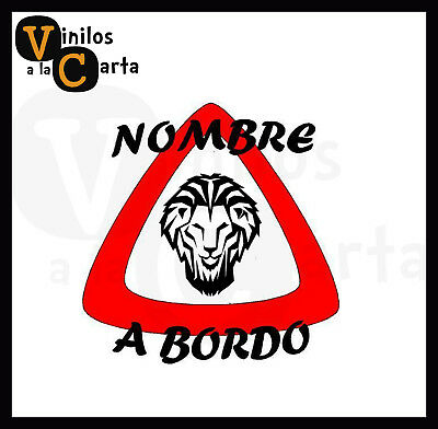 Bebé a bordo león Athletic club Bilbao Pegatina Adhesivo Vinilo Sticker Coche